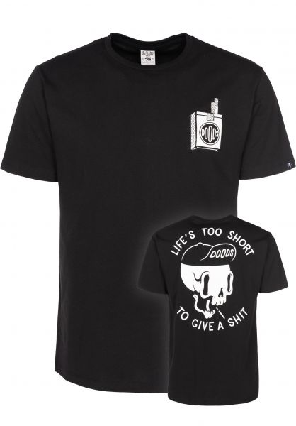 The Dudes T-Shirts Too Short black Vorderansicht 0397627