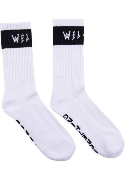 Welcome Socken Summon white-black Vorderansicht