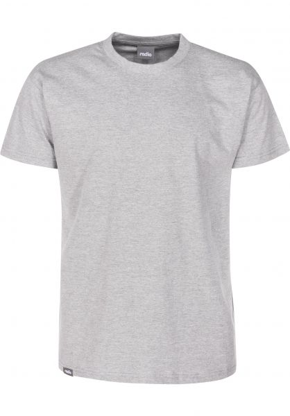 Radio T-Shirts Basic sportgrey vorderansicht 0398965