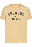 Makia-T-Shirts-Brewing-yellow-Vorderansicht