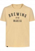 Makia-T-Shirts-Brewing-yellow-Vorderansicht