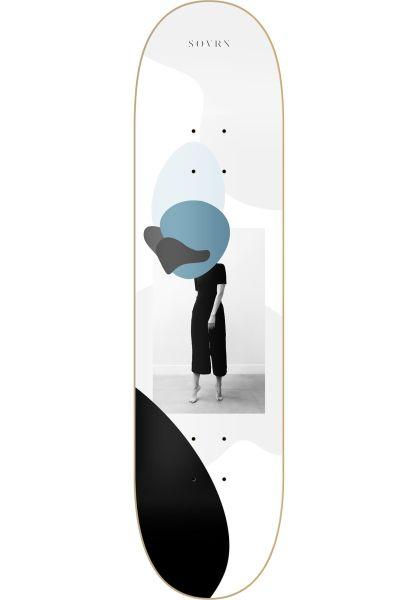 SOVRN Skateboard Decks Act white vorderansicht 0260802