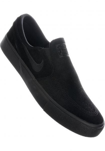 Nike SB Alle Schuhe Zoom Stefan Janoski Slip On RM black-black-black vorderansicht 0604617