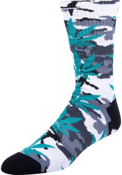 HUF Socken Plantlife Camo white vorderansicht 0631758