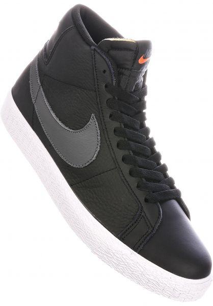 Nike SB Alle Schuhe Zoom Blazer Mid ISO Orange Label black-darkgrey-white vorderansicht 0604861