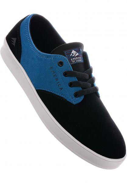 Emerica Alle Schuhe Romero Laced x Toy Machine black-turquoise Vorderansicht