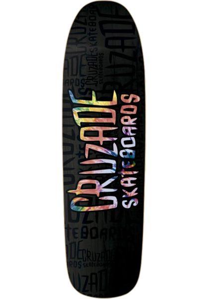 Cruzade Skateboard Decks Tie Dye black vorderansicht 0262242