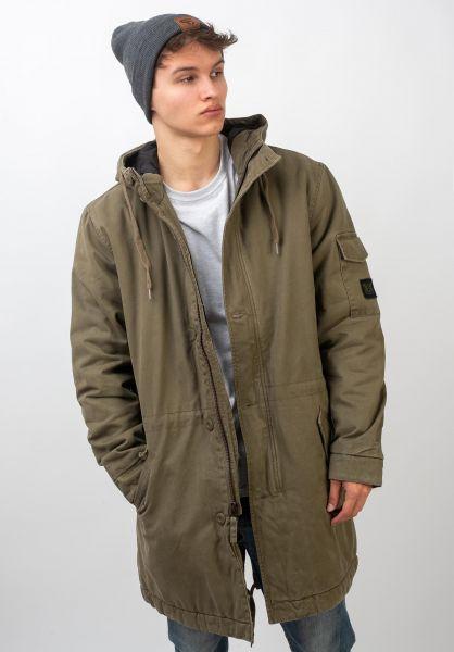 RVCA Winterjacken Standard Issue Parka cadetgreen vorderansicht 0250124