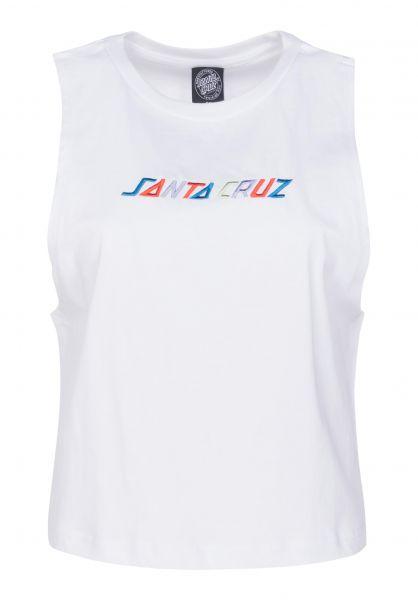 Santa-Cruz Tops Coloured Strip Vest white Vorderansicht