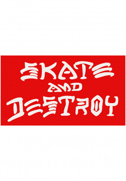 Thrasher Verschiedenes Skate and Destroy Small Sticker red Vorderansicht