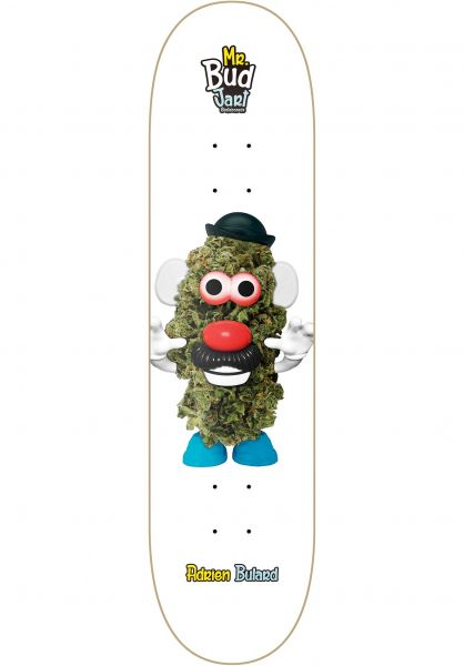 JART Skateboard Decks Mr Bud I white Vorderansicht
