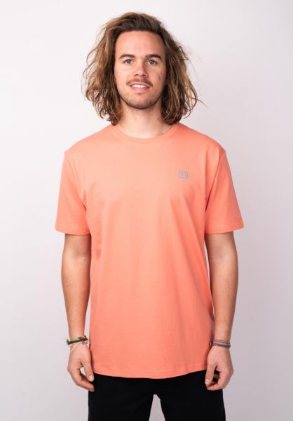 TITUS T-Shirts Chest Emblem peach vorderansicht 0398357