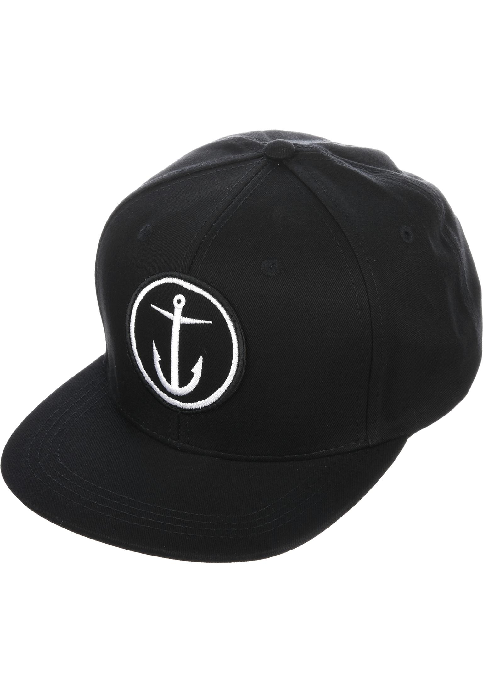 Captain Fin Caps Original Anchor 6 Panel black white Vorderansicht