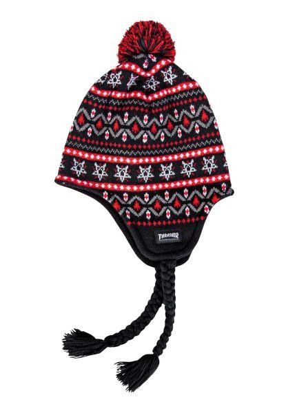 Thrasher Mützen Magazine Logo Sherpa black-red vorderansicht 0572480
