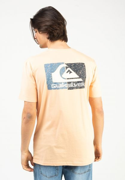 Quiksilver T-Shirts Isle Of Stoke apricot vorderansicht 0323164