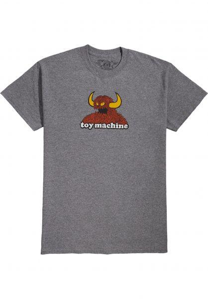 Toy-Machine T-Shirts Furry Monster graphiteheather vorderansicht 0323281