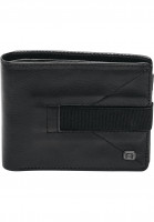 Reell Portemonnaie Strap Leather Wallet black Vorderansicht
