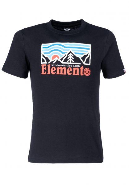 Element T-Shirts Wander Kids flintblack vorderansicht 0322405