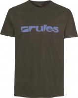 Rules T-Shirts Basic brown-lightblue Vorderansicht