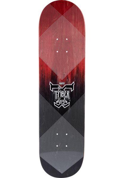 TITUS Skateboard Decks Colour Fade Logo T-Fiber red-black vorderansicht 0261206