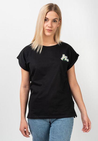Dedicated T-Shirts Flower Pocket black vorderansicht 0321057