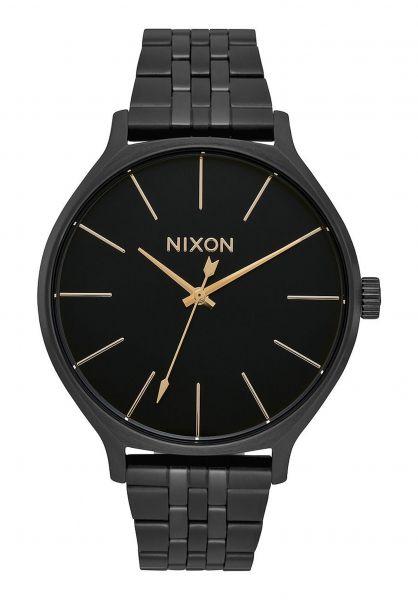 Nixon Uhren The Clique all-black vorderansicht 0810379