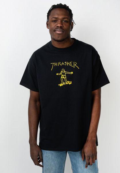 Thrasher T-Shirts Gonz black-gold vorderansicht 0361585