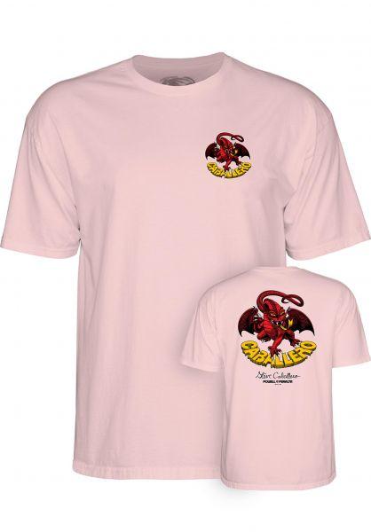 Powell-Peralta T-Shirts Cab-Dragon-II lightpink vorderansicht 0369546