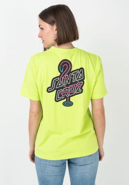 Santa-Cruz T-Shirts Glowmingo safetygreen vorderansicht 0321389