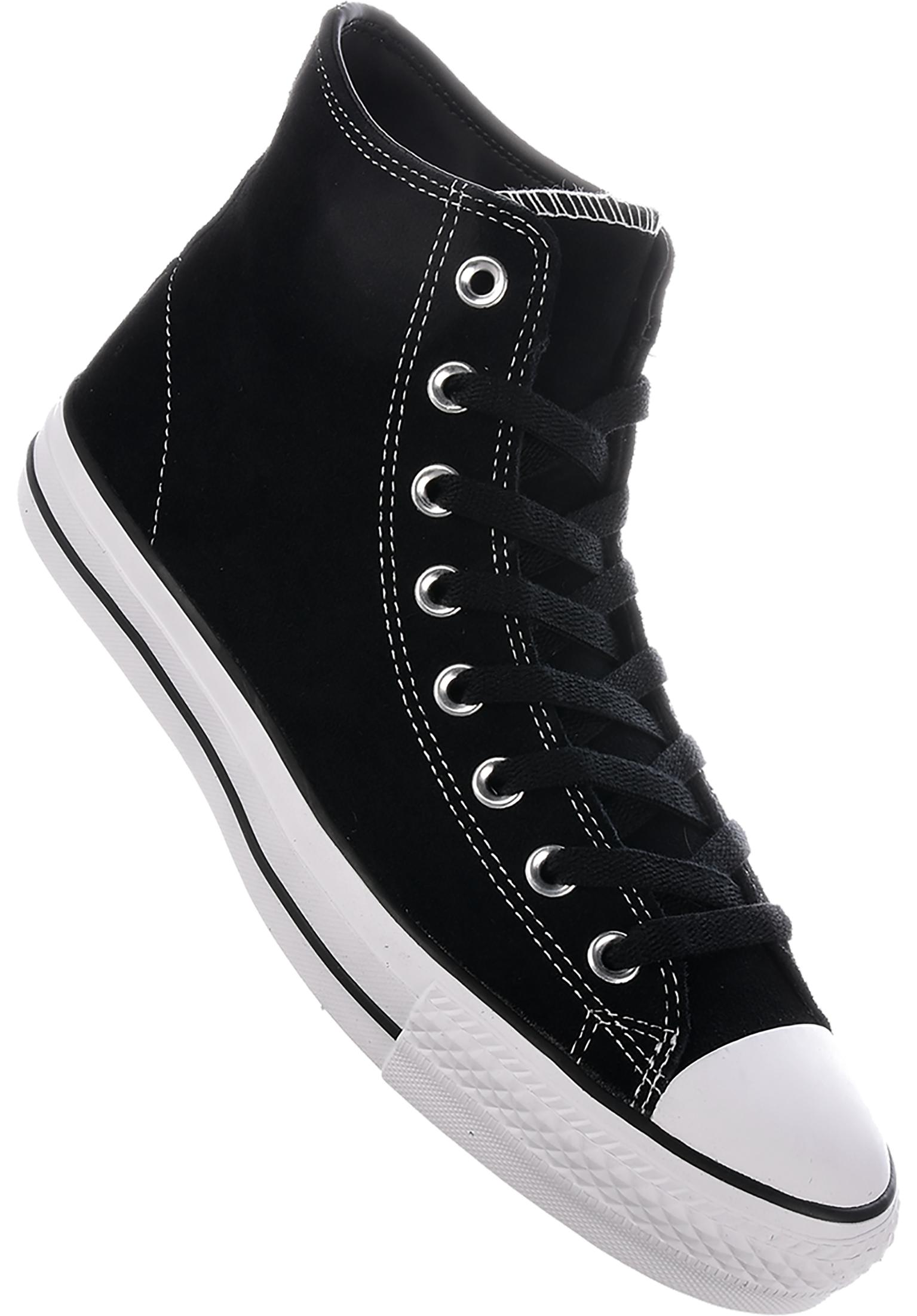 4772ed9c3f75 CTAS Pro Suede Hi Converse CONS All Shoes in black-black-white for Men