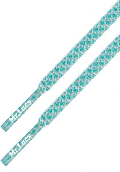 Mr. Lacy Schnürsenkel Ropies mint-green-white vorderansicht 0640029