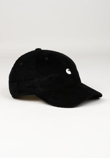 Carhartt WIP Caps Harlem Cap black-wax vorderansicht 0566402