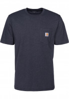 Carhartt WIP T-Shirts Pocket darknavyheather Vorderansicht