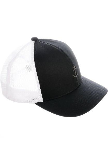 Dark Seas Caps Rockhopper black-white vorderansicht 0566246