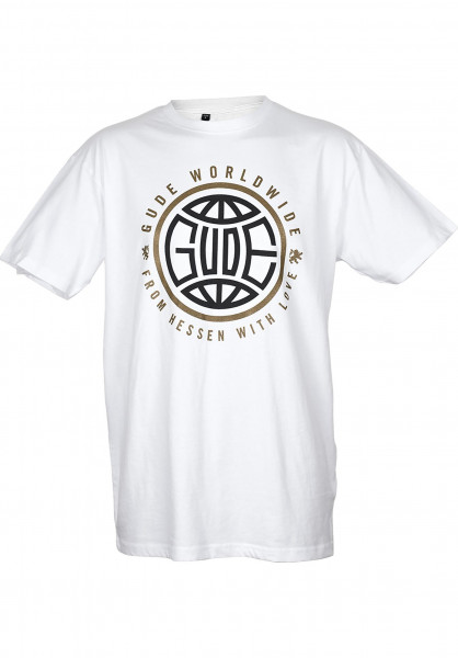 GUDE T-Shirts Worldwide white Vorderansicht