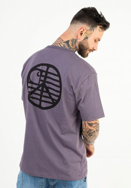 Carhartt WIP T-Shirts Peace State provence-black vorderansicht 0323427