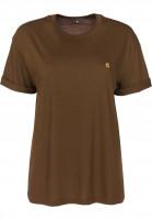 Carhartt WIP T-Shirts W' S/S Chase hamiltonbrown-gold Vorderansicht