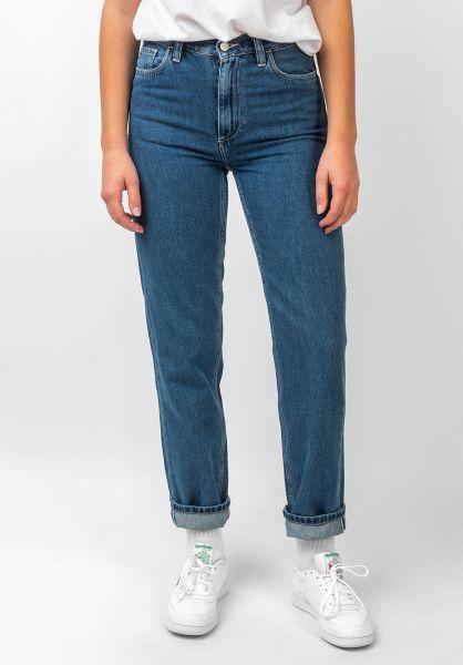 Carhartt WIP Jeans W´ Mita Pant blue-stonewashed vorderansicht 0269064