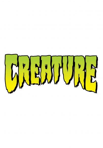 """Creature Verschiedenes Logo Decal 4"""" clear-green vorderansicht 0170288"""