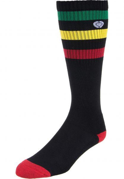 C1RCA Socken Knee High green-yellow-red Vorderansicht