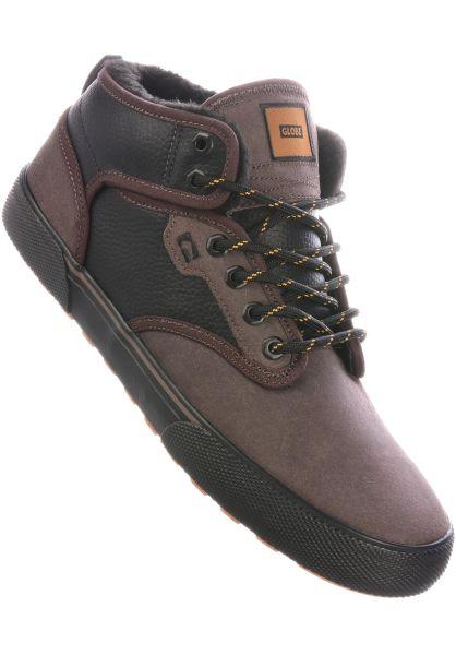 Globe Alle Schuhe Motley Mid Fur blackleather-choc vorderansicht 0602792