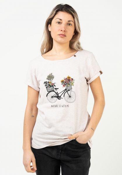 Ragwear T-Shirts Florah Print beige 121 vorderansicht 0322818