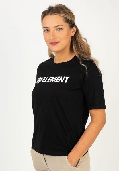 Element T-Shirts Element Logo black vorderansicht 0395826