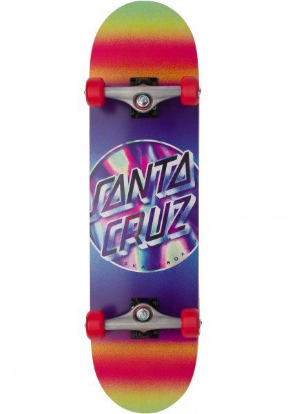 Santa-Cruz Skateboard komplett Iridescent Dot Large multicolored vorderansicht 0162678