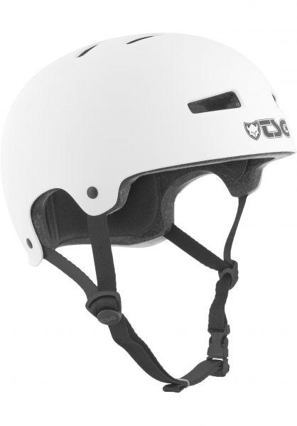 TSG Helme Evolution Solid Colors satin white Vorderansicht