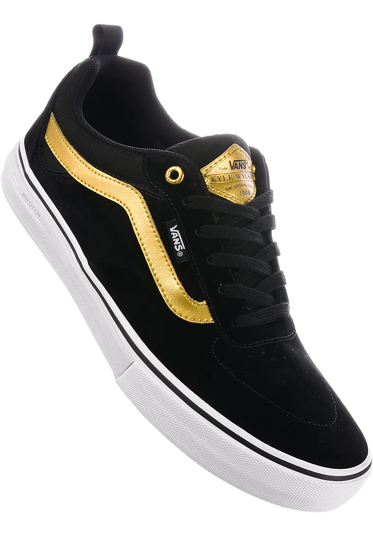 Kyle Walker Pro Vans All Shoes in black-gold for Men  6b7644929
