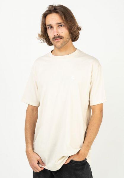 etnies T-Shirts Team Embroidary natural vorderansicht 0323518