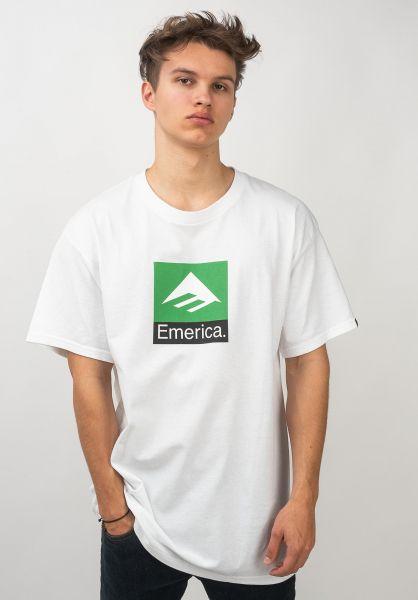 Emerica T-Shirts Classic Combo white vorderansicht 0320681