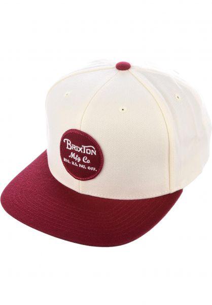 Brixton Caps Wheeler cream-burgundy Vorderansicht