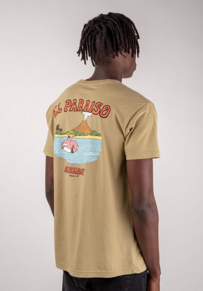 Altamont T-Shirts El Paraiso khaki vorderansicht 0383227
